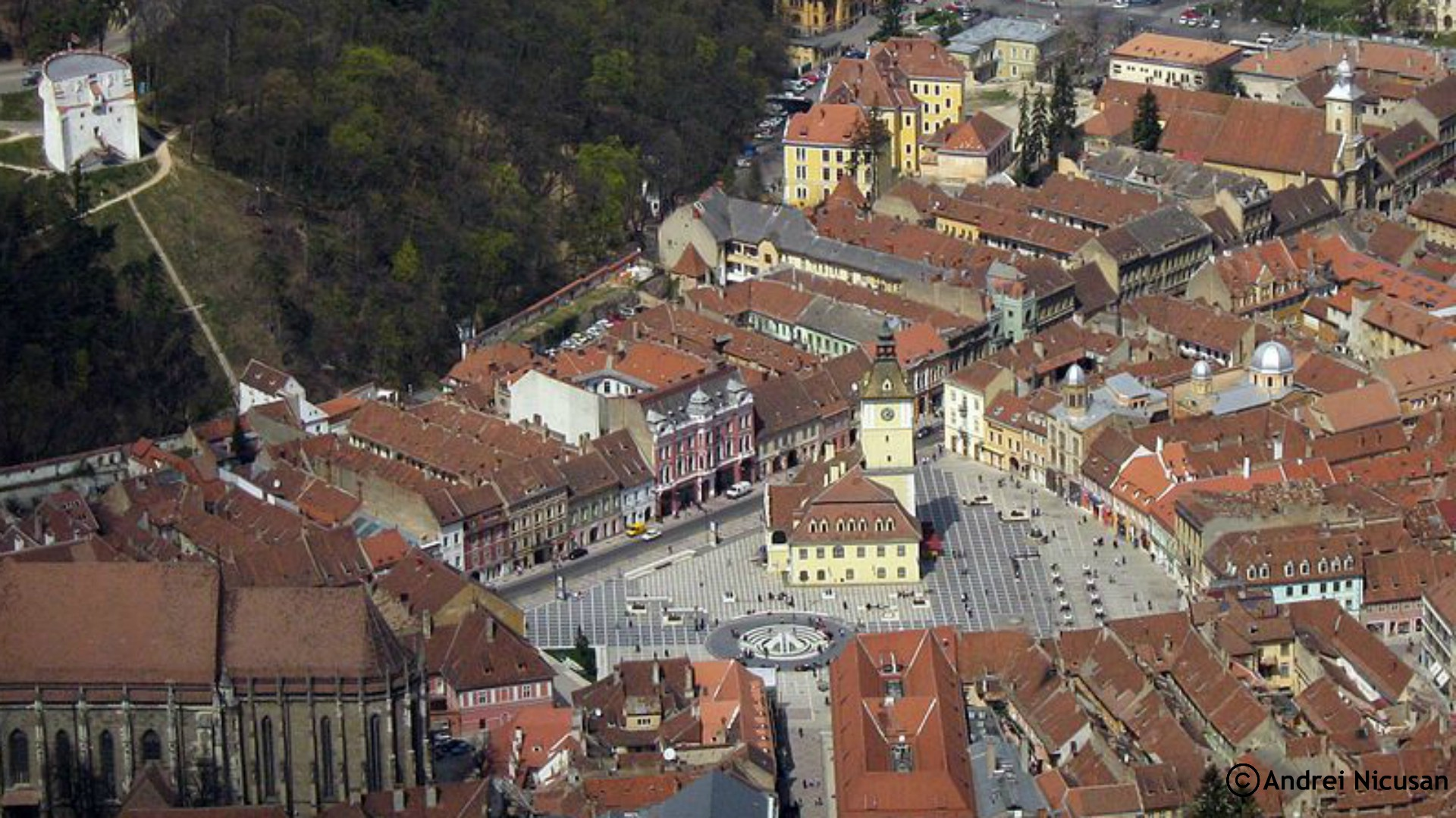 View of Brașov Old Centre from Tâmpa